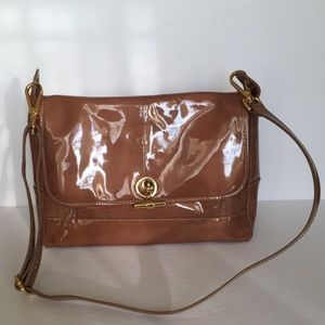 J Crew Collection Patent Camp Messenger Bag